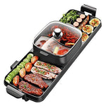 2 in 1 BBQ& Hot Pot,Table-Top Party Grill and Hot Pot(6-8 Persons),Electric Raclette-Non Stick- Great Gift Idea