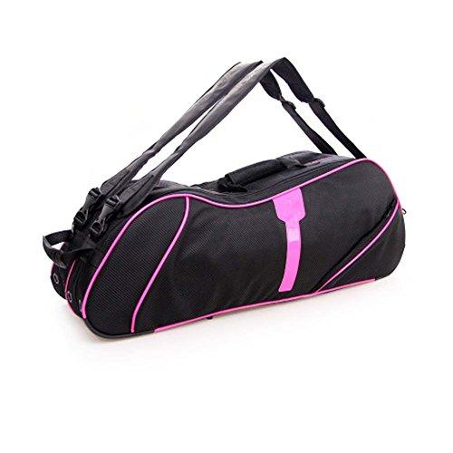 2 Shoulder Straps Waterproof And Dustproof Racket Bag 6 Racquet Bag,Pink