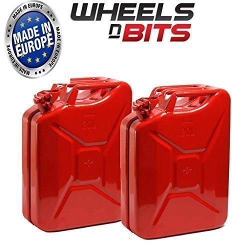2 x 20L Litre RED JERRY MILITARY CAN FUEL OIL WATER PETROL DIESEL RED BLUE GREEN