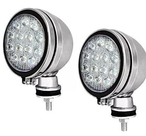 "2 X CAR SPOTLIGHT 6"" WHITE LED CHROME HALOGEN FOG SPOT LIGHTS 12V 55W CAR VAN"