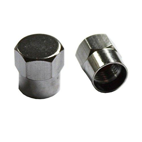 200 x Metal Hexagon Chrome Tyre Valve Dust Caps Car Motorcycle Motorbike ATV Van by AllTrade Direct