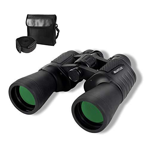 20x50 High Power Binoculars for Adults Kids, Compact Waterproof with Low Light Night Vision Binocular Telescope for Bird Watching Hunting Travel Football Games Outdoor with Carrying Case and Strap