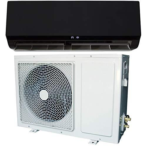 24000 BTU Black Hitachi Powered Smart Wall Mounted Split Air Conditioner with Heat Pump 5 Meters pip