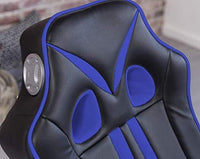 24Designs Racing Chair Game Chair Monaco - with Bluetooth & Speakers Technology - Black/Blue