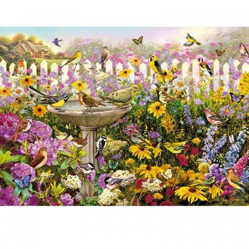 250pc Wentworth Wooden Jigsaw Puzzles - Bird Bath Bonanza