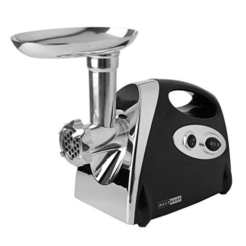 2800W Electric Meat Grinder Sausage Maker with Sausage Filler Chrome Plated Stainless Steel Multifunctional Meat Grinder Black