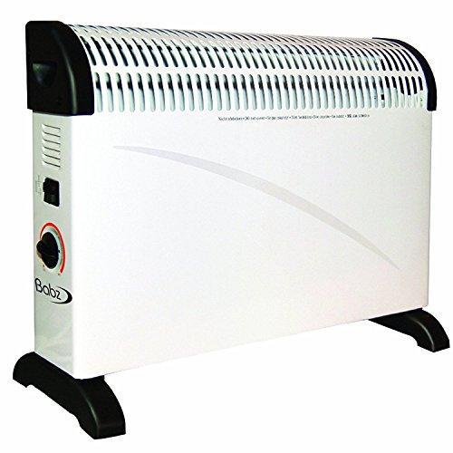 2X Babz 2KW 2000W Convector Heater with Thermostat in White (Convection Heater)