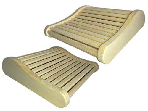 2x Sauna Headrest Espe Sauna Pillow Head Wedge Cushion Relax Headrest Shaft