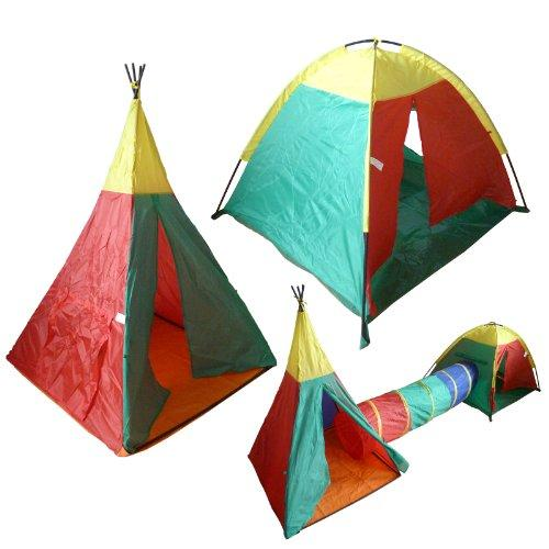 3 in 1 Kids Play Tent And Tunnel Set
