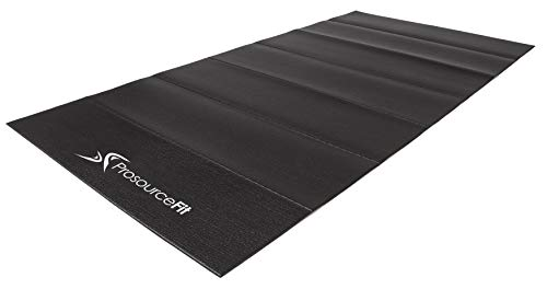 "ProSource Treadmill & Exercise Equipment Mats, Folding (7'L x 3'W x ¼""T) High Density PVC Floor Protector"