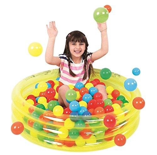 "36"" Transparent Yellow Inflatable Children's Play Pool Ball Pit"