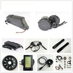 36V 500W Bafang 8fun Mid Crank Drive Motor Conversion Kits + 36V 11.6AH Down Tube ATLAS Frame Case Panasonic Cell Battery with 2A Charger