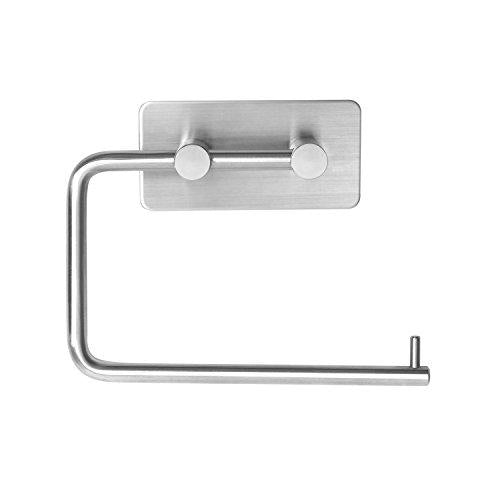 3MOM Toilet Roll Holder, Brushed Stainless Steel, Toilet Paper Holder 3M Self Adhesive.