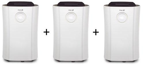 3x Dehumidifier & air purifier CA-707 - Suitable: 70m² - Extraction rate 20 Litres/24 Hours - 4 filter technologies