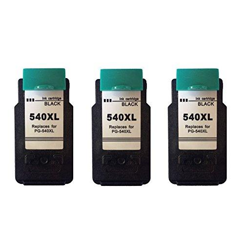 3x Ink Jungle PG-540XL Black Remanufactured Ink Cartridges For Canon PIXMA MG2200 Inkjet Printers