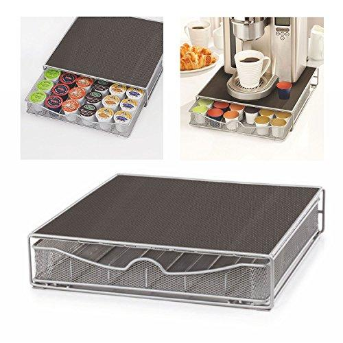 3XTop Home Solutions Coffee Machine Stand & Capsule Pod Holder Storage Drawer for Nespresso & Dolce Gusto Capsules