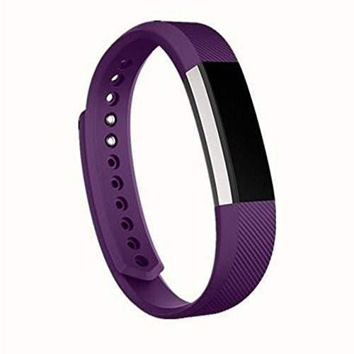 jStrap For Fitbit Alta and for Fitbit Alta HR Bands,Replacement Bands Sport Wrist Bands Silicone Smartwatch Fitness Wristband for Fitbit Alta HR and Fitbit Alta (Purple, Small)