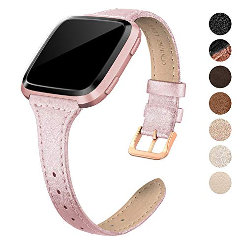Swees Stainless Steel Metal Band Compatible Apple Watch 38mm Series 1, Series 2, Series 3, Sports & Edition for Women, Jewelry Jewels Cowboy Style, Rose Gold, Ivory, Champagne, Black, Brown, Tan,Pink