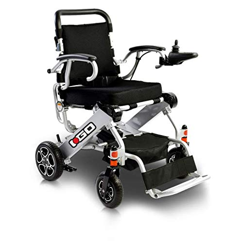 Pride Mobility i-Go Power Chair - Folding Electric Wheelchair for Adult with Joystick (Silver)