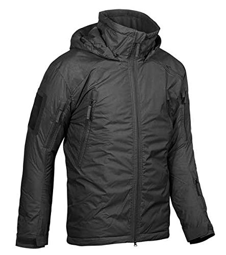 Carinthia MIG 4.0 2019 jacket, windproof, water-repellent winter jacket, thick lined, ultra light, hooded thermal jacket. -  Black - X-Large