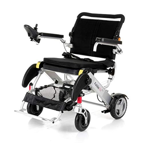 Motion Healthcare Foldalite Pro Power Wheelchair - Lightweight and Durable Powerchair for Adults, Black