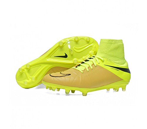 Nike Men's Hypervenom Phatal II DF LTR FG Football Boots, Gold/Yellow/Black (Canvas/Black-Volt), 9.5 UK