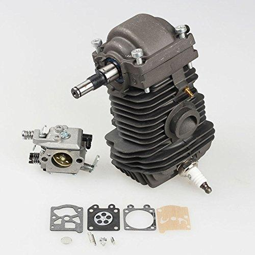 42.5mm Cylinder Piston Crankshaft Assembly for STIHL Chainsaw 023 025 MS230 MS250 with Carburetor Carb kit Spark plug