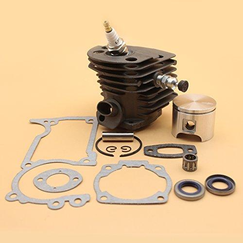 46mm Cylinder Piston Oil Seal Decompression Valve Gasket Kit For HUSQVARNA 55, 55 Rancher, 51 Chainsaw Engine Motor Parts