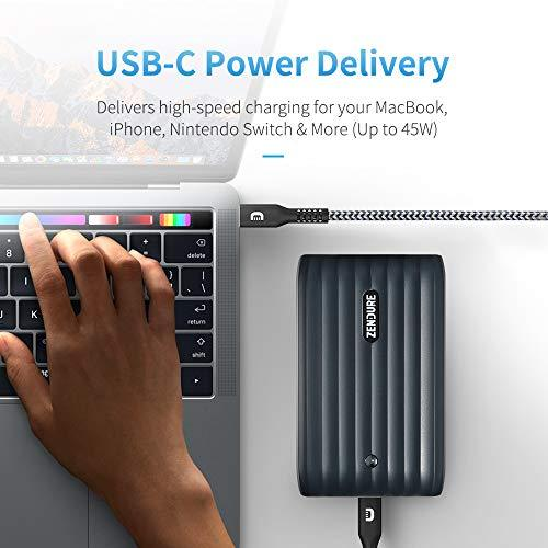 5 Ports USB-C Hub Portable Charger 20000mAh, Zendure X6 45W PD&QC 3 0 Power  Bank (LED Display, UPS Continuous Power, Low Power Mode) Compatible