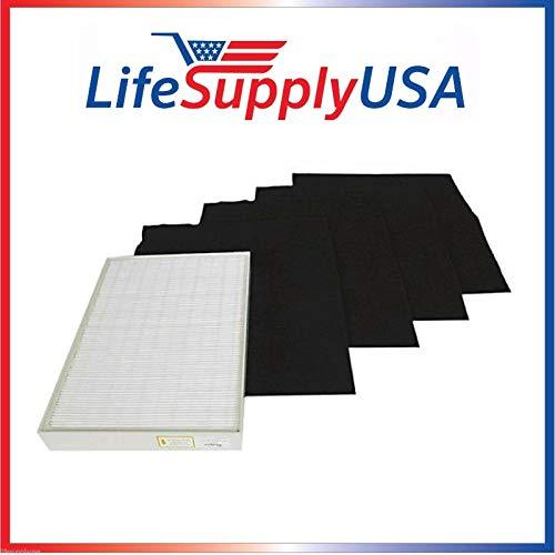 50 Complete True HEPA Filter SETS includes 50 HEPA + 200 Carbon Pre-Filters fit Whirlpool Whipure Air Purifier AP150 AP250 Sears Kenmore 83353, 83374 83234 SMALL 1183051 k 817433 k By LifeSupplyUSA