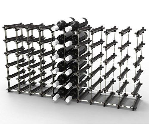 50 NOOK Wine Rack - Easy 2 Step Assembly - No Hardware Required - Capacity: 60 Bottles