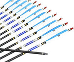 500 Spine Arrows Carbon Shaft Feather Fletched for Longbow Recurve Bow 12 Pcs/Package