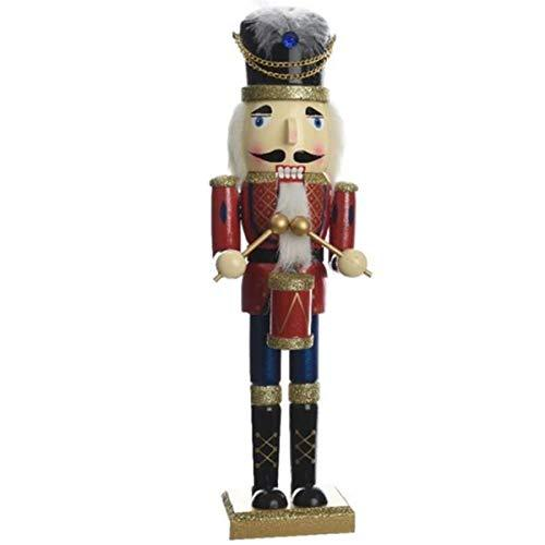 50cm Wooden Luxury Christmas Handmade Nutcracker with Drum