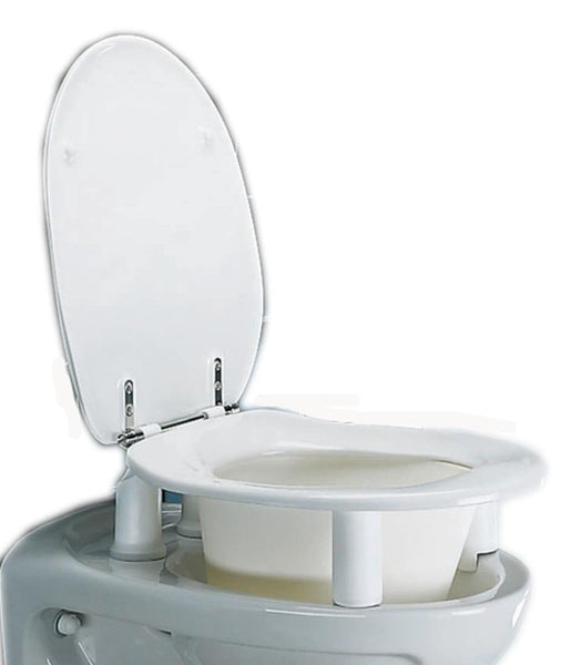NRS Healthcare Dania 10 cm (4 Inches) Raised Toilet Seat with Cover (Eligible for VAT Relief in The UK)