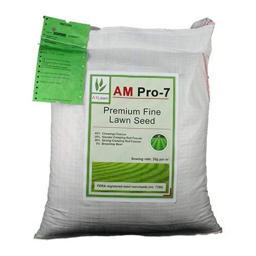 5kg Top Quality Grass Seed/Lawn Seed - (A1LAWN AM Pro-7 Premium Fine Lawn) - covers approx. 142 sq metres - DEFRA registered
