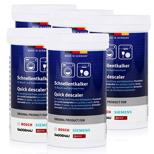 5x BSH Quick De-Scaler 250g - Descaler for Washing Machines and Dishwashers