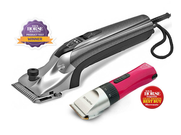 Masterclip Award Winning Clipping Combo V Series Variable Speed Horse Clipper & Cordless Pink Showmate Trimmer