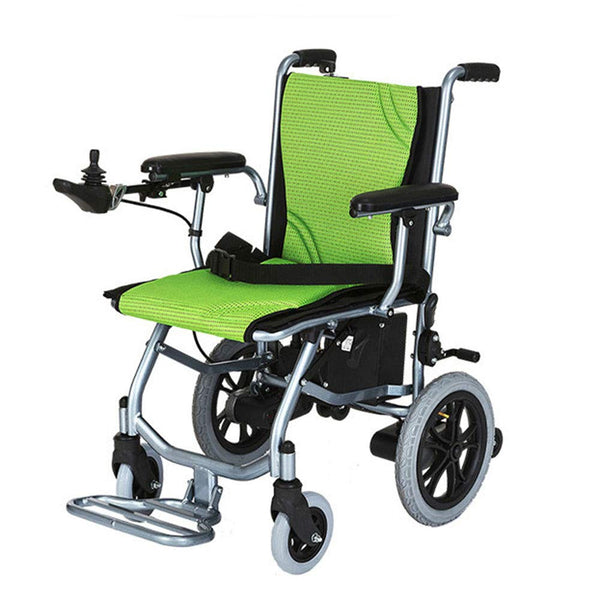 AZJXC Electric wheelchair, elderly disabled, smart, lightweight folding lithium battery, electric aluminum alloy wheelchair