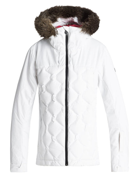 Roxy Breeze - Quilted Snow Jacket for Women - Quilted Snow Jacket - Women Bright White