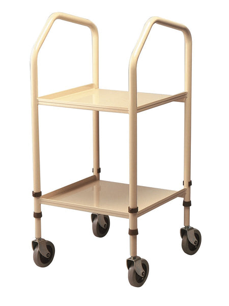 Homecraft Standard Walsall Trolley, Durable Steel Frame, Ideal for Food Transfer, Comfortable Hand Grips, Castors for easy Manoeuvrability, Cutaway Lower Shelf (Eligible for VAT relief in the UK)