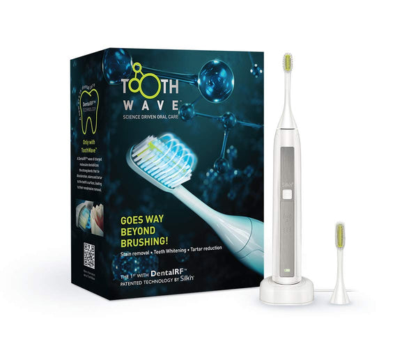 Silk'n Tooth Wave - Electric Toothbrush with Dental RFTM Technology - Clinically Tested - White