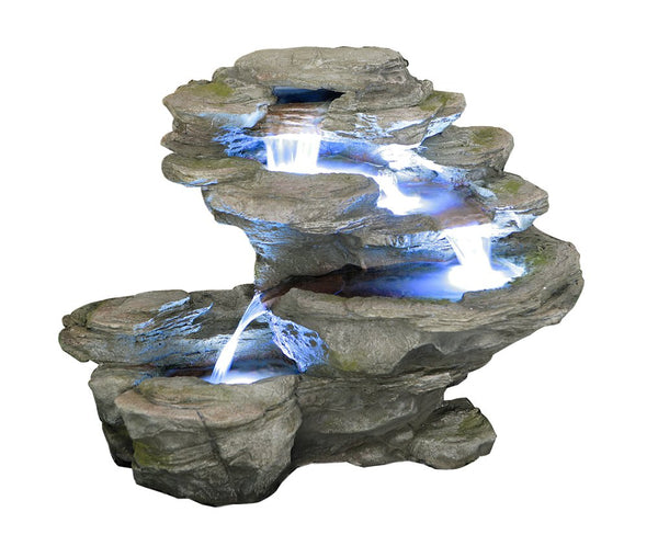 Ogen River Leap 4 Tier Cascading Water Feature with Lights