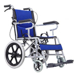 Wheelchair Lightweight Transport, Adult Folding Transit For Elderly