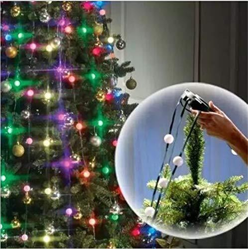 64 led string lights christmas tree decoration string lights remote control 3 mode
