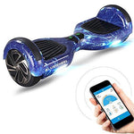 "6.5"" Bluewheel HX310s Self Balancing Hover Scooter Board with UL2272 safety standard -Kids safety mode with App -Bluetooth speaker -700W engine - LED - Electric Skateboard (Blue Sky)"
