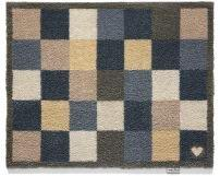 """65cm x 85cm (HUG RUG Blue Check 12) THE BEST QUALITY Machine Washable, Dirt Trapper Door Mat"""