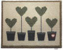 """65cm x 85cm (HUG RUG Heart Topiary 10 Trees design)THE BEST QUALITY Machine Washable, Dirt Trapper Door Mat"""
