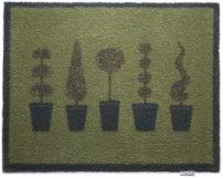 """65cm x 85cm (HUG RUG Various Topiary 20 Trees design) THE BEST QUALITY Machine Washable, Dirt Trapper Door Mat"""