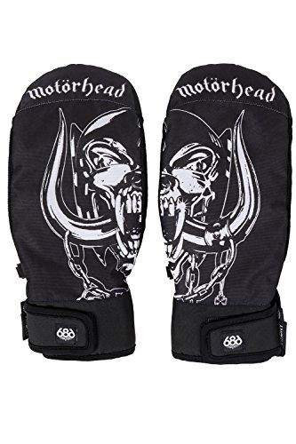 686 Men's Mns Motorhead Mountain Mitt Snowboarding-Gloves, Black, L