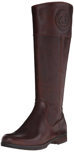 Rockport Womens Tristina Rosette Tall Boot Tristina Rosette Tall Boot Brown Size: 4.5 UK